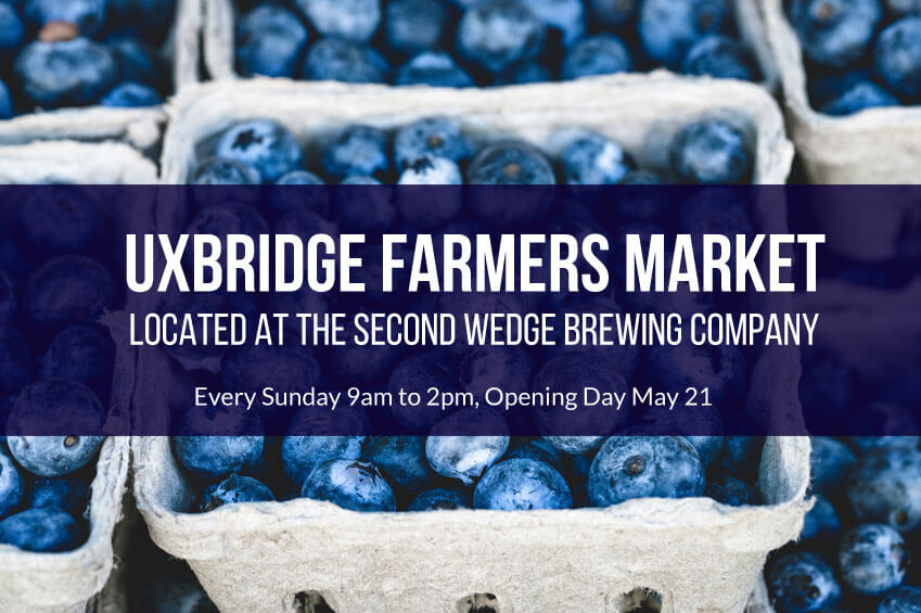 Uxbridge Farmers Market located at the Second Wedge Brewing Company
