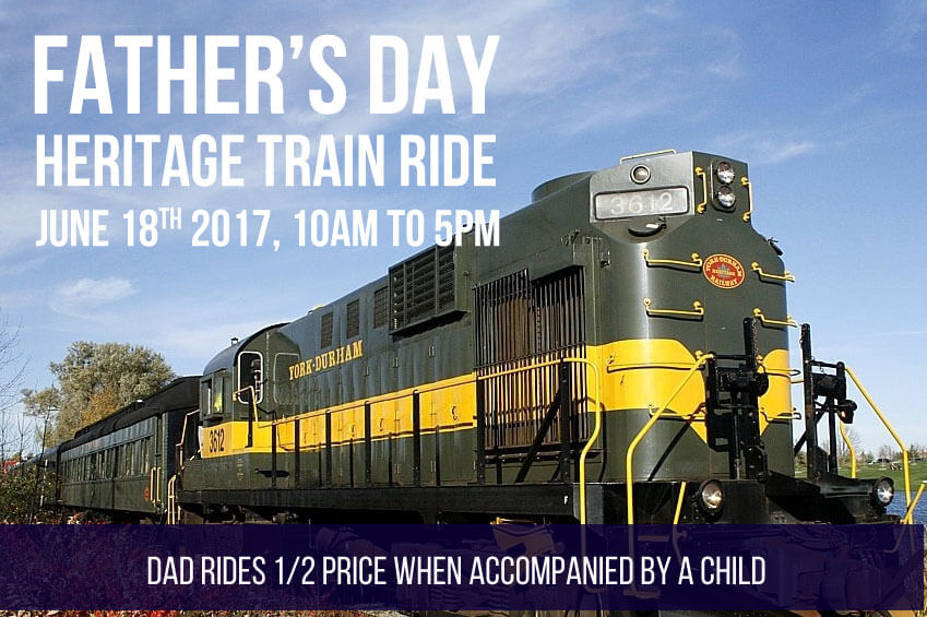 Father's Day Heritage Train Ride 10am to 5pm